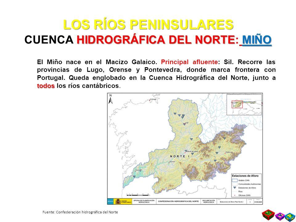 LOS RÍOS PENINSULARES CUENCA HIDROGRÁFICA DEL NORTE: MIÑO