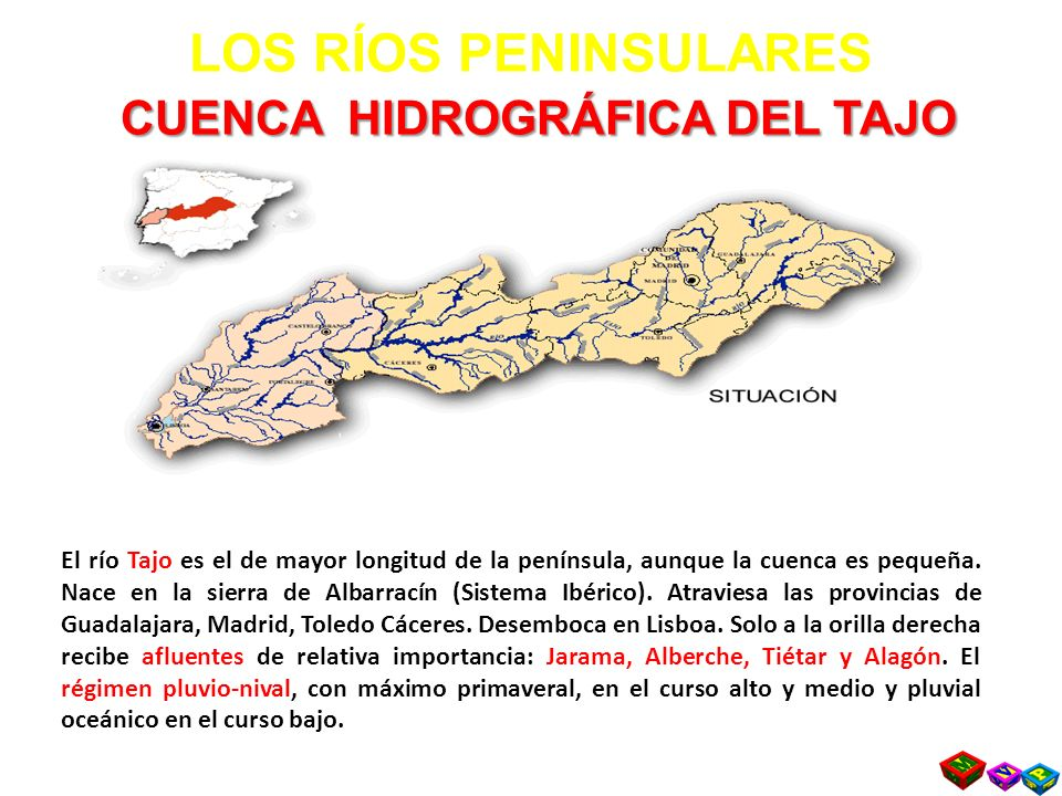 LOS RÍOS PENINSULARES CUENCA HIDROGRÁFICA DEL TAJO