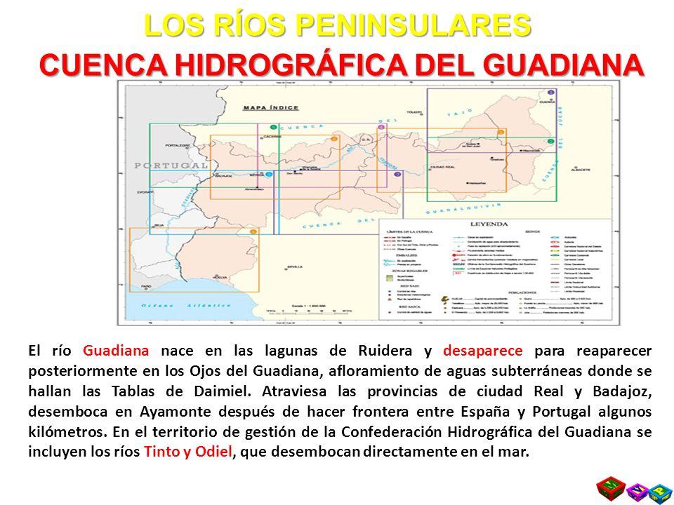 LOS RÍOS PENINSULARES CUENCA HIDROGRÁFICA DEL GUADIANA
