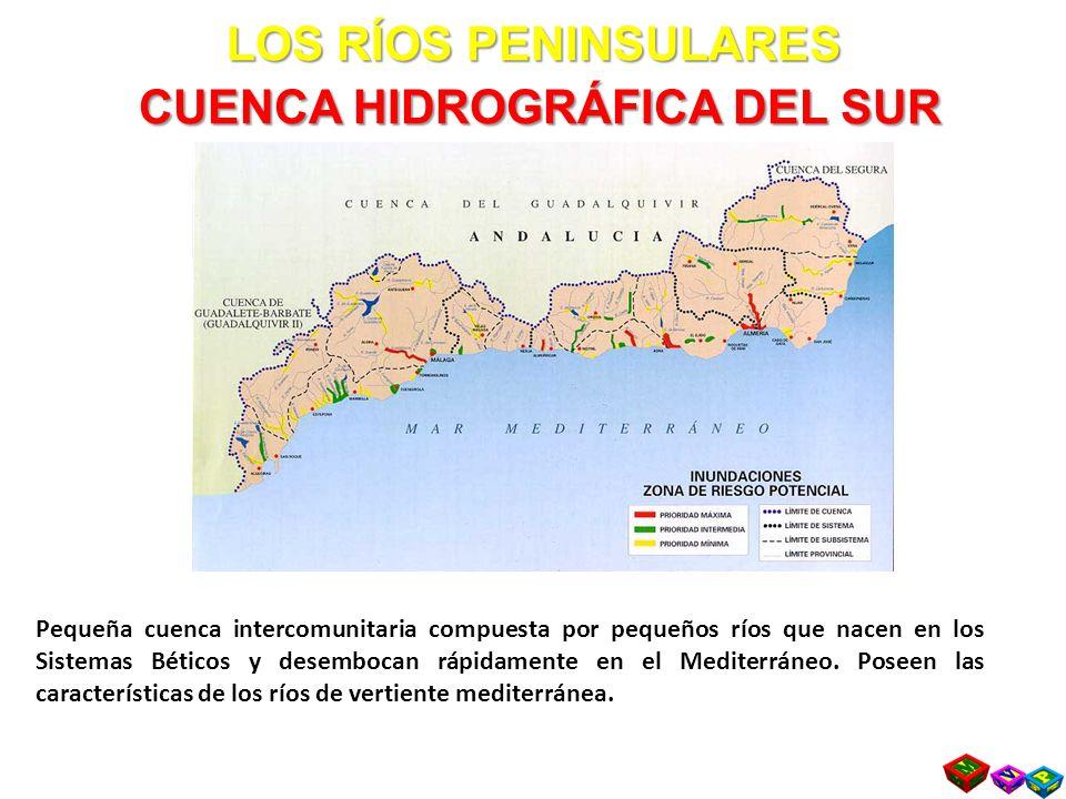 LOS RÍOS PENINSULARES CUENCA HIDROGRÁFICA DEL SUR