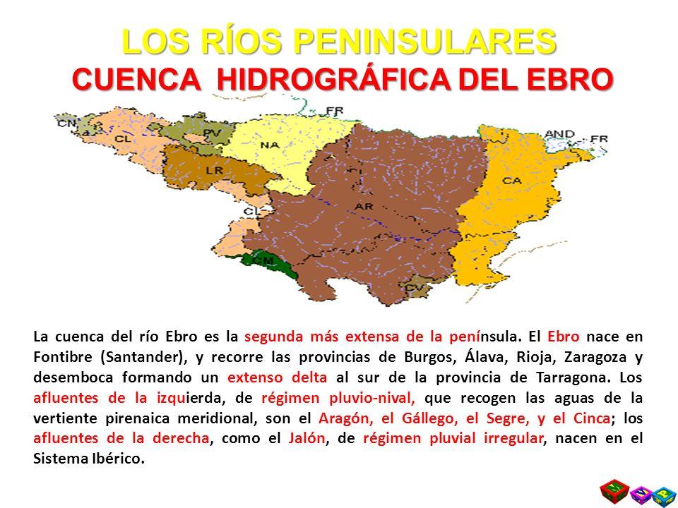 LOS RÍOS PENINSULARES CUENCA HIDROGRÁFICA DEL EBRO