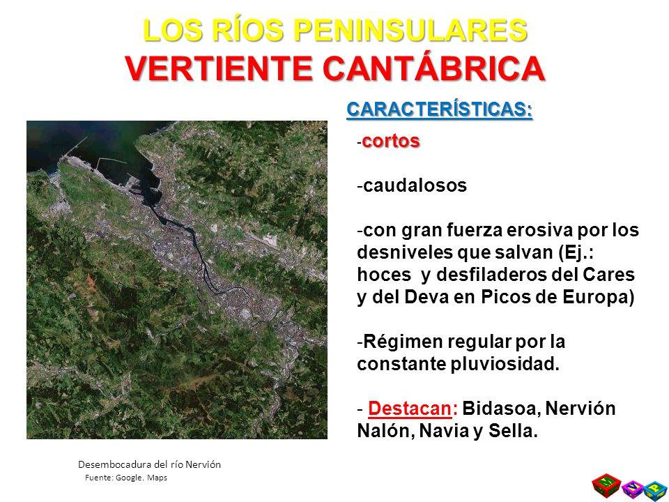 LOS RÍOS PENINSULARES VERTIENTE CANTÁBRICA