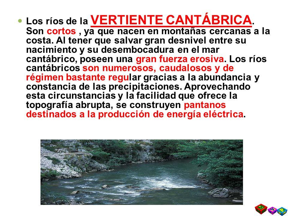 Los ríos de la VERTIENTE CANTÁBRICA