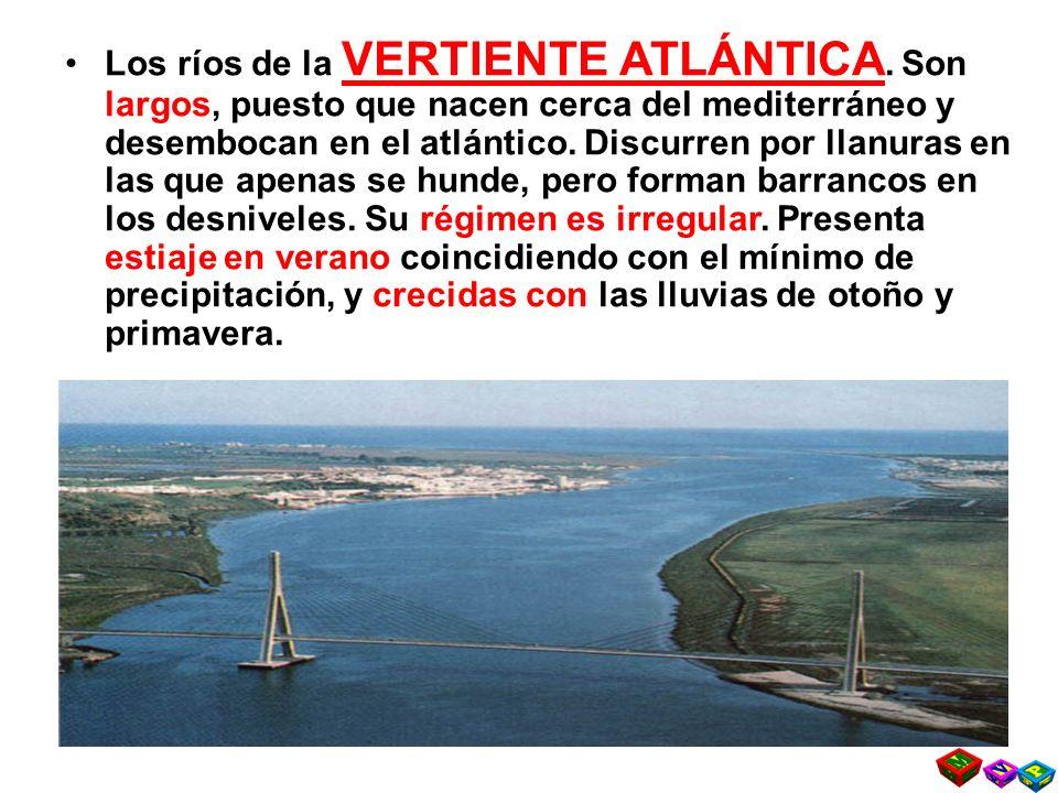 Los ríos de la VERTIENTE ATLÁNTICA