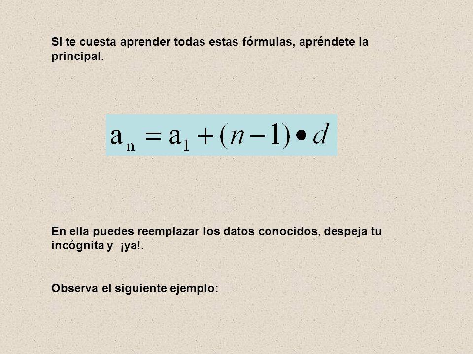 Si te cuesta aprender todas estas fórmulas, apréndete la principal.