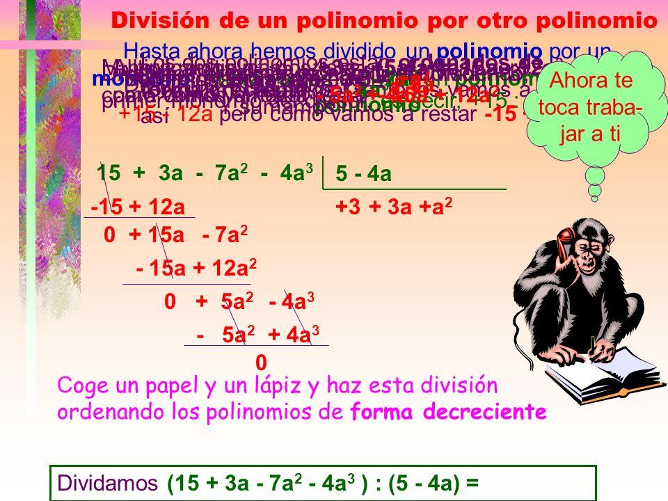 División de un polinomio por otro polinomio