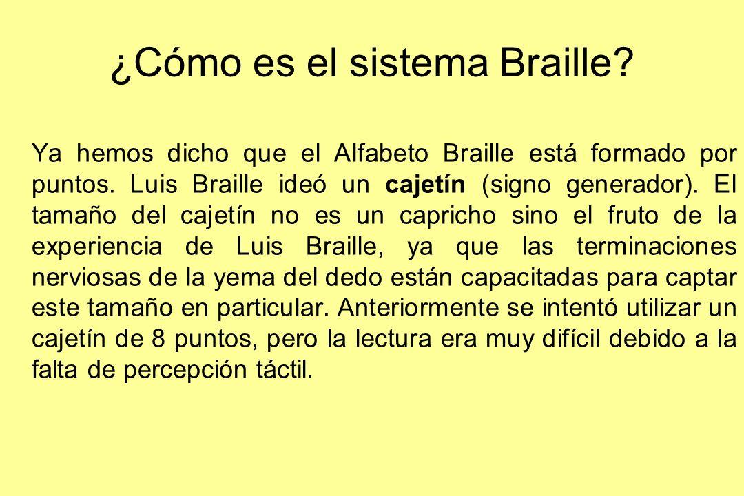 ¿Cómo es el sistema Braille