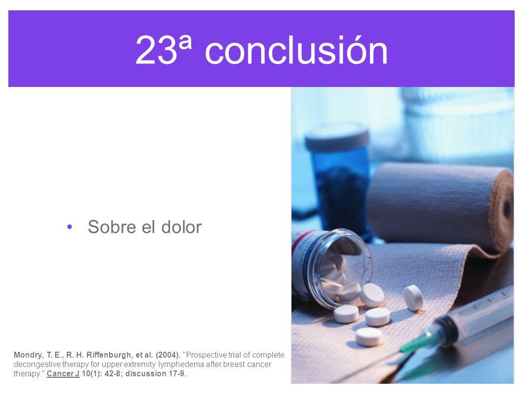 23ª conclusión Sobre el dolor