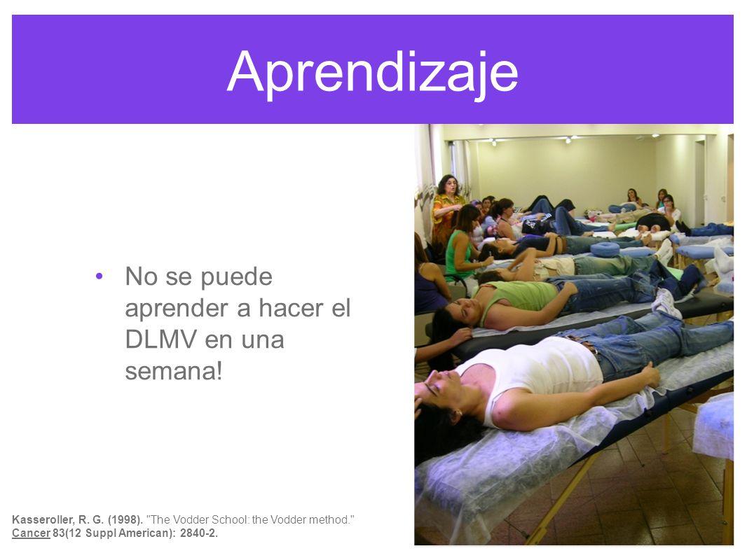 Aprendizaje No se puede aprender a hacer el DLMV en una semana!