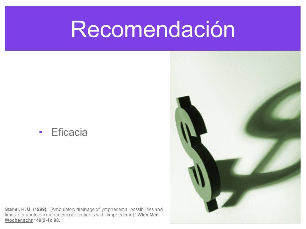 Recomendación Eficacia El DLM es seguro, efectivo y económico