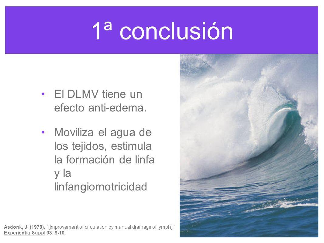 1ª conclusión El DLMV tiene un efecto anti-edema.