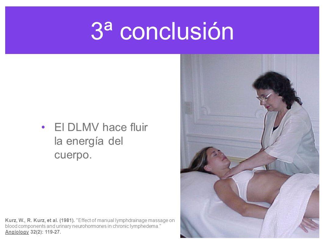 3ª conclusión El DLMV hace fluir la energía del cuerpo.