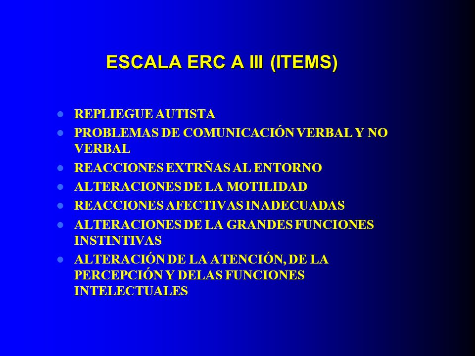 ESCALA ERC A III (ITEMS)