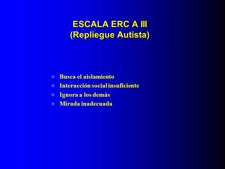 ESCALA ERC A III (Repliegue Autista)