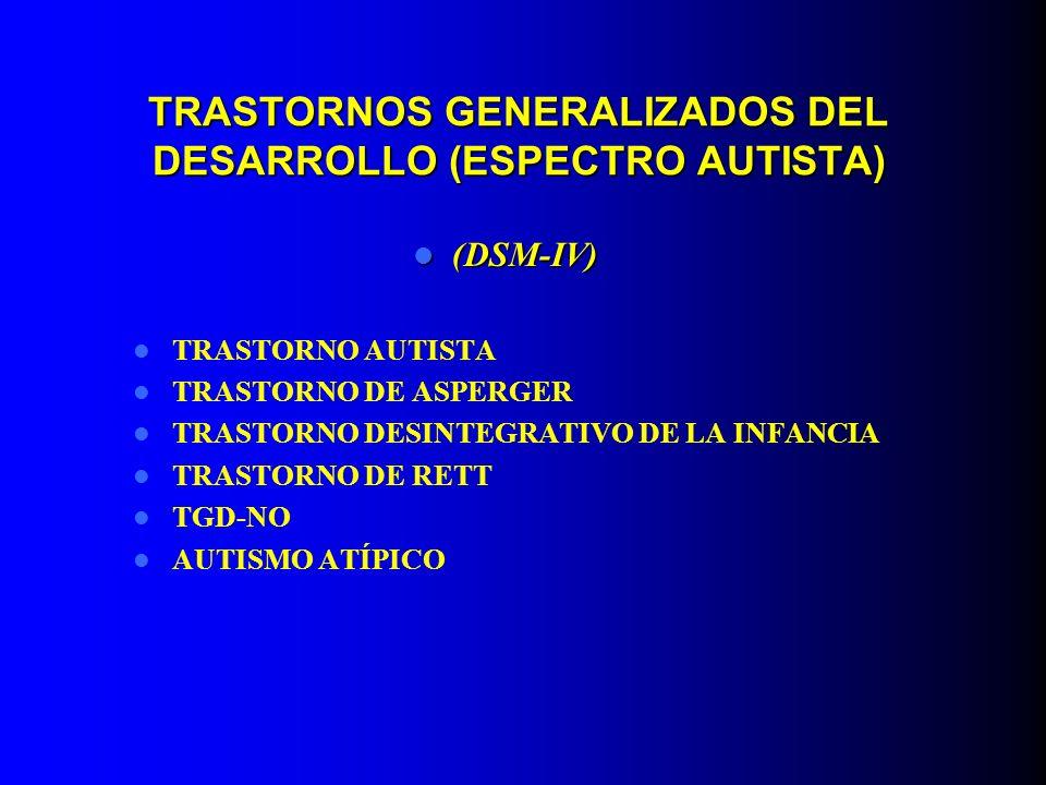 TRASTORNOS GENERALIZADOS DEL DESARROLLO (ESPECTRO AUTISTA)
