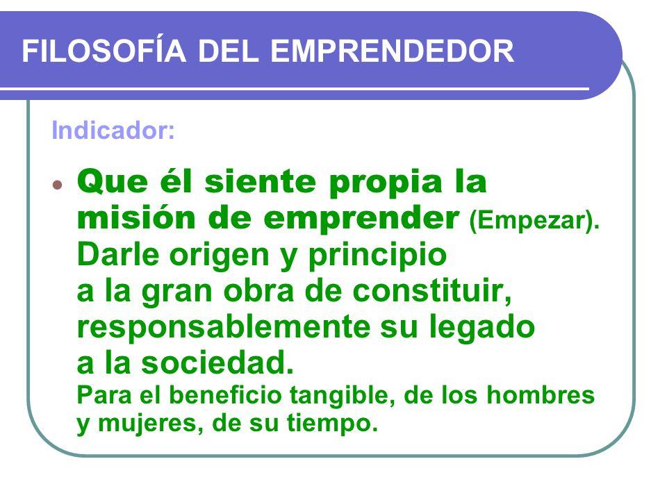 FILOSOFÍA DEL EMPRENDEDOR