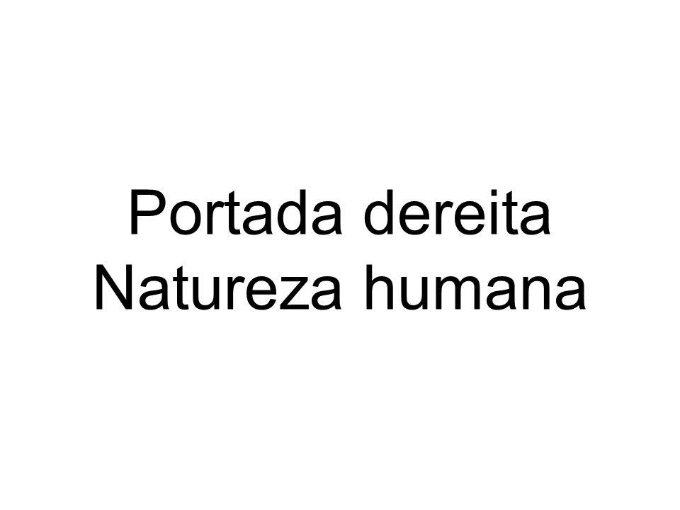 Portada dereita Natureza humana