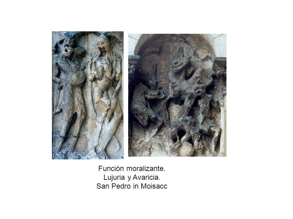 Función moralizante. Lujuria y Avaricia. San Pedro in Moisacc