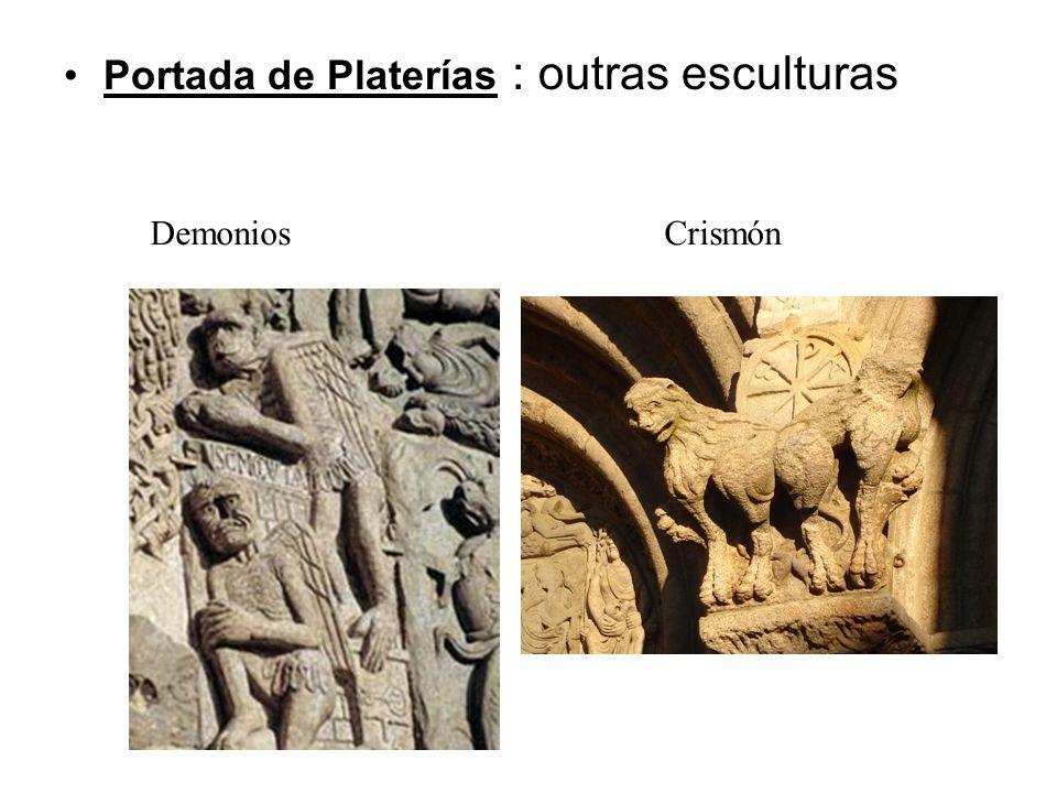 Portada de Platerías : outras esculturas