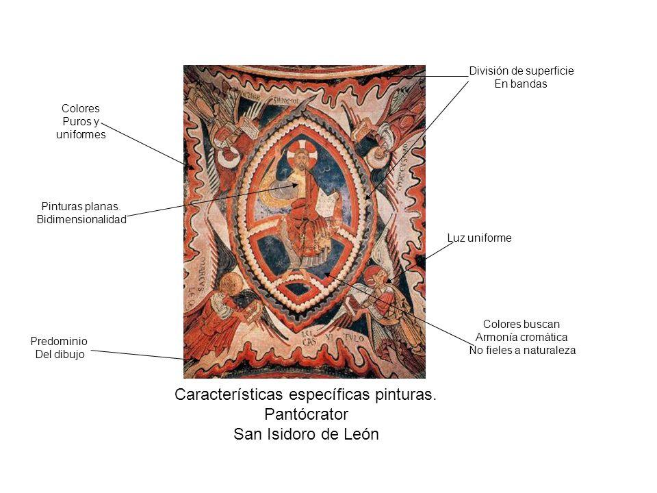 Características específicas pinturas. Pantócrator San Isidoro de León
