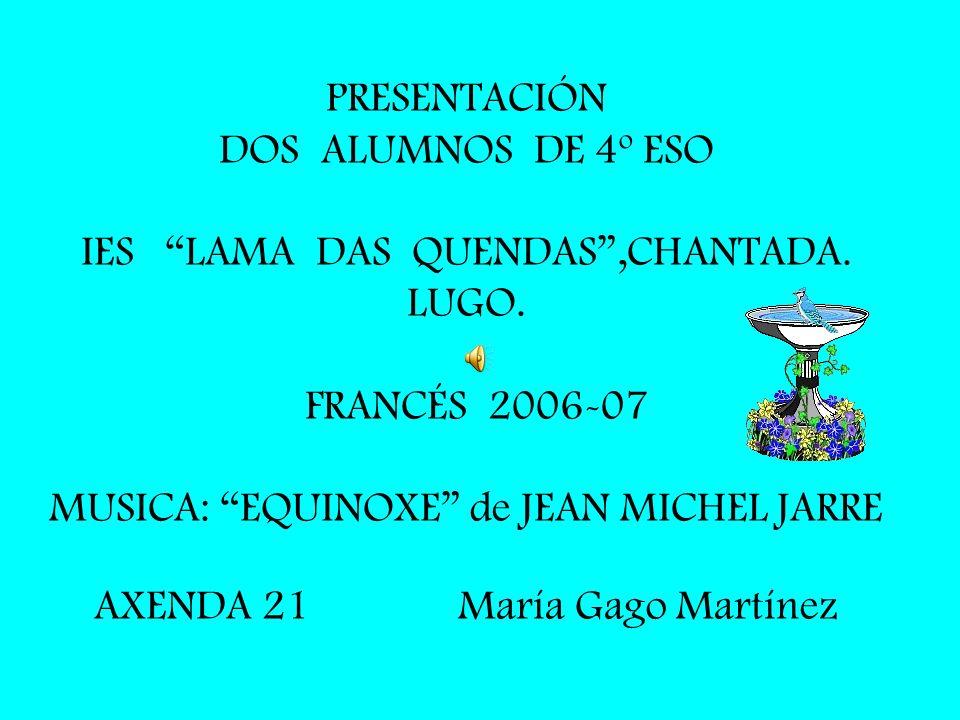 PRESENTACIÓN DOS ALUMNOS DE 4º ESO IES LAMA DAS QUENDAS ,CHANTADA