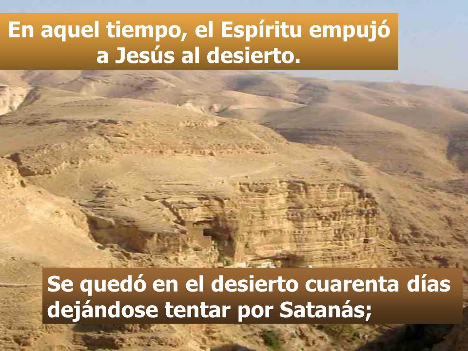 En aquel tiempo, el Espíritu empujó a Jesús al desierto.