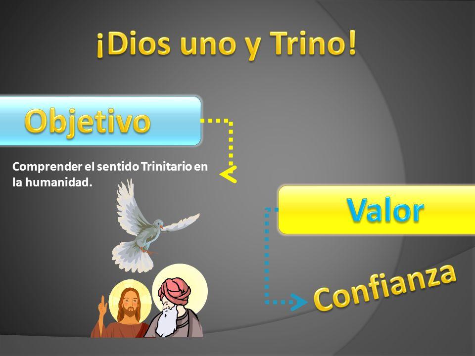 ¡Dios uno y Trino! Objetivo Valor Confianza