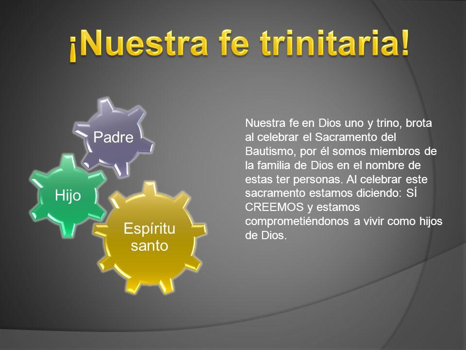 ¡Nuestra fe trinitaria!
