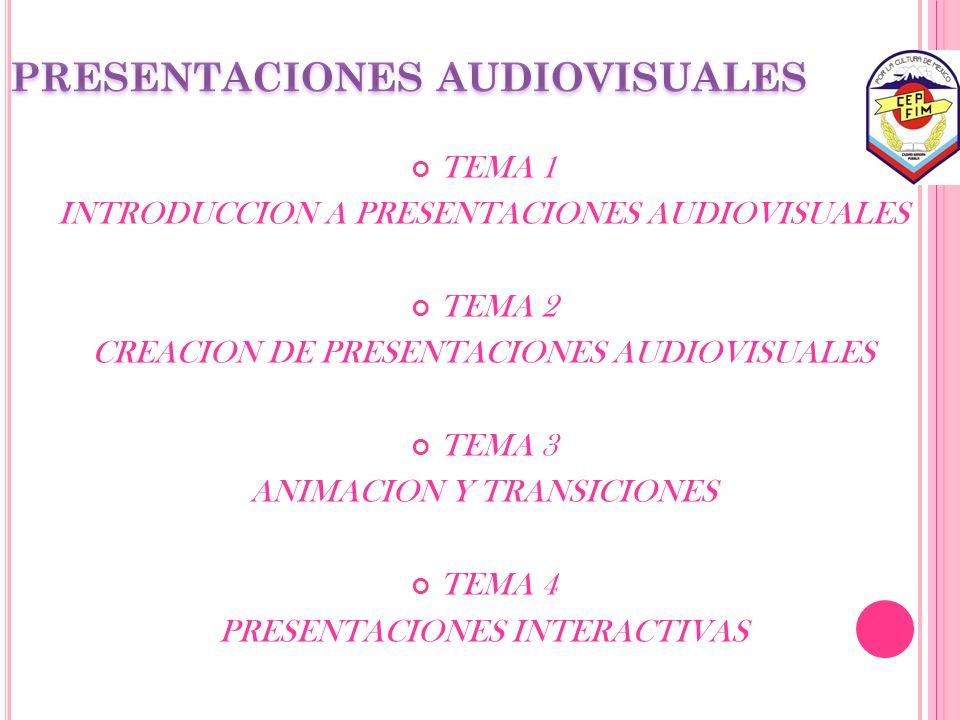 PRESENTACIONES AUDIOVISUALES