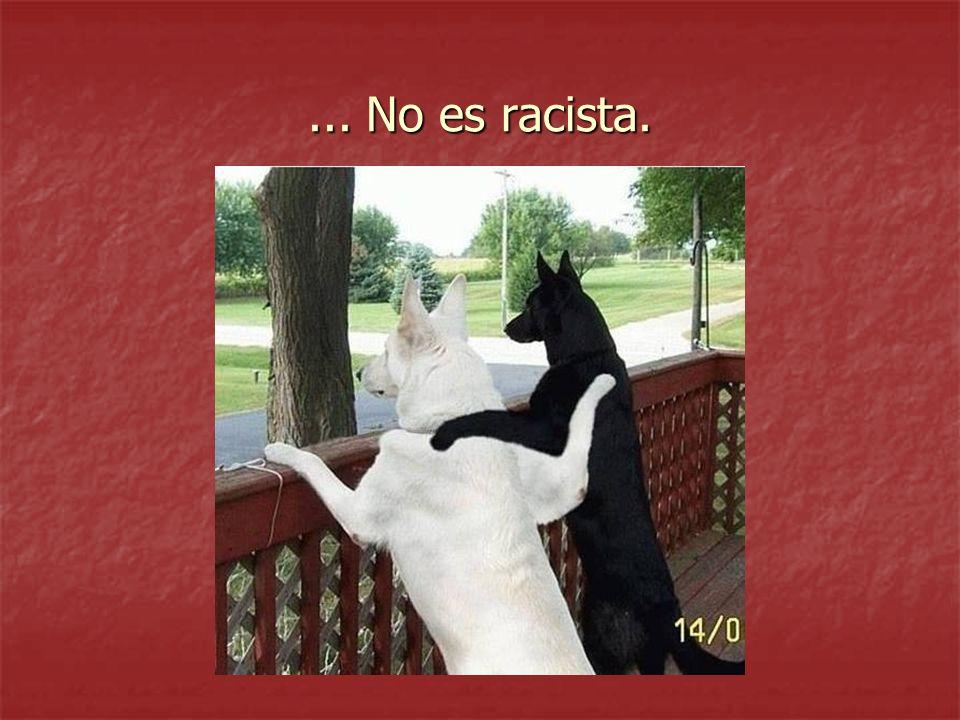 ... No es racista.