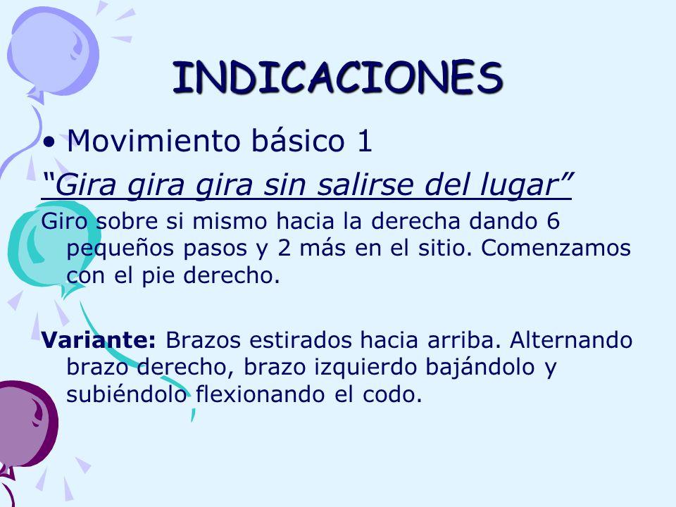 INDICACIONES Movimiento básico 1