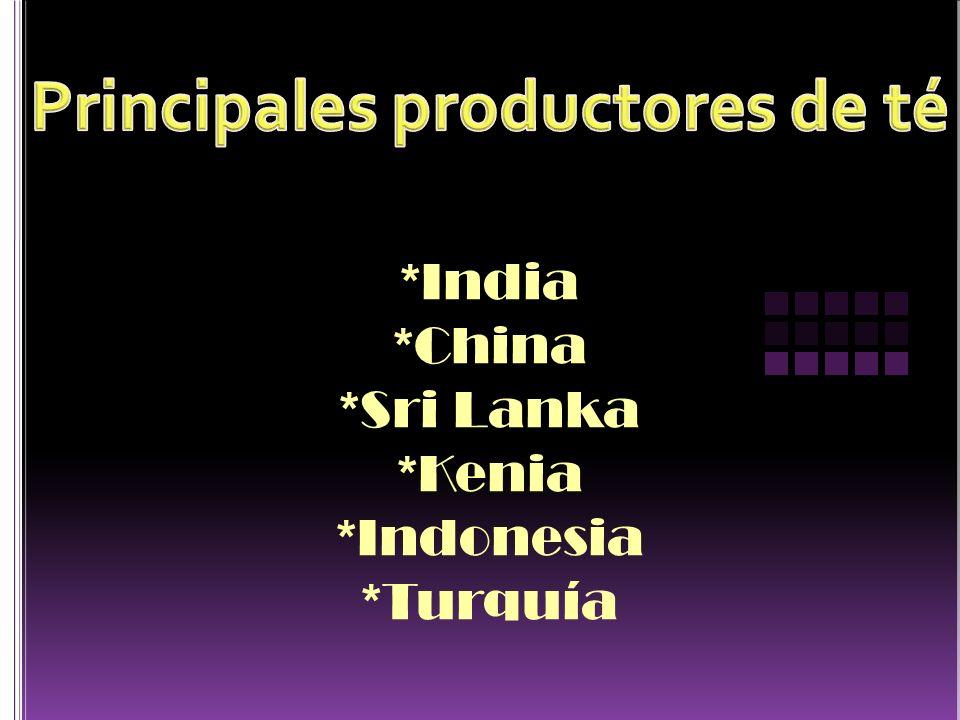 Principales productores de té