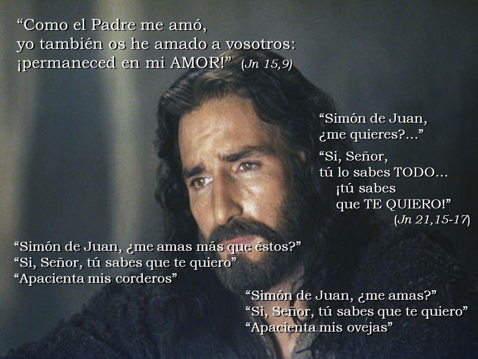 Como el Padre me amó, yo también os he amado a vosotros: ¡permaneced en mi AMOR! (Jn 15,9)
