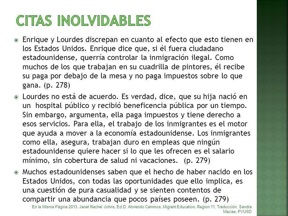 CITAS INOLVIDABLES