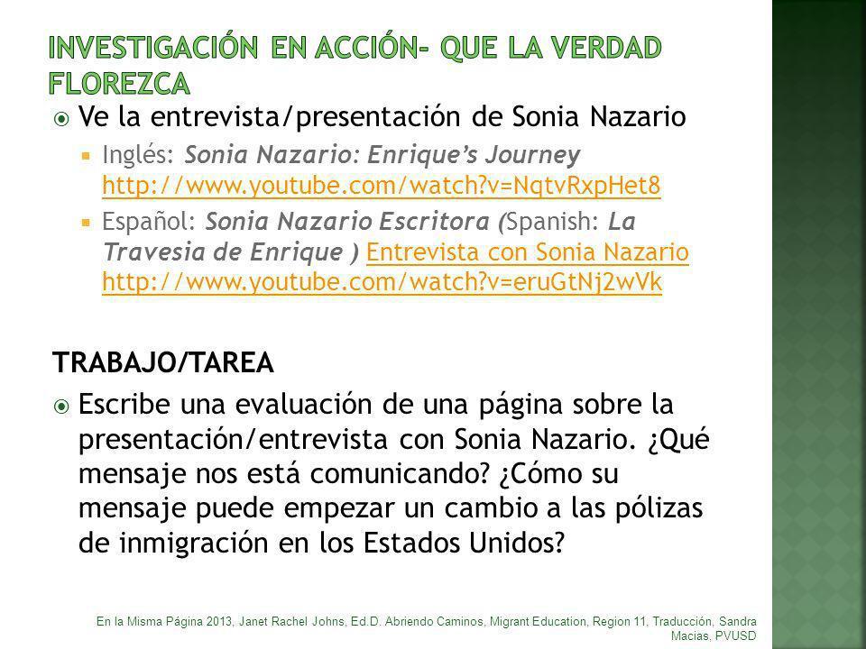 INVESTIGACIÓN EN ACCIÓN- QUE LA VERDAD FLOREZCA