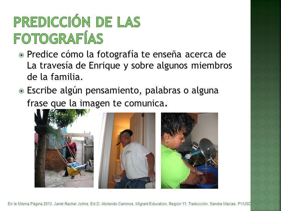 PREDICCIÓN DE LAS FOTOGRAFÍAS