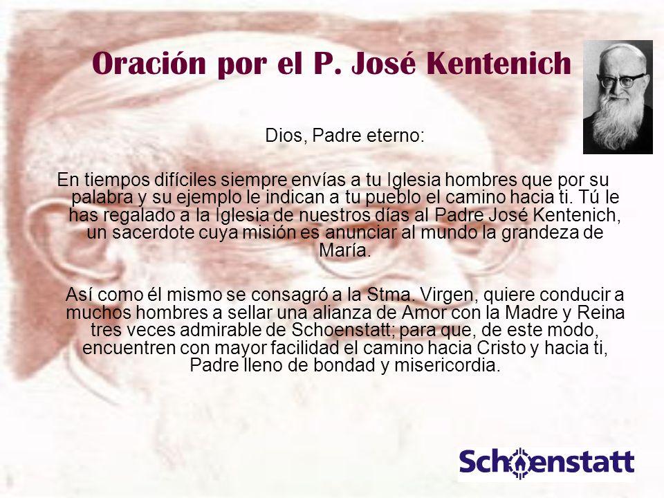 Oración por el P. José Kentenich