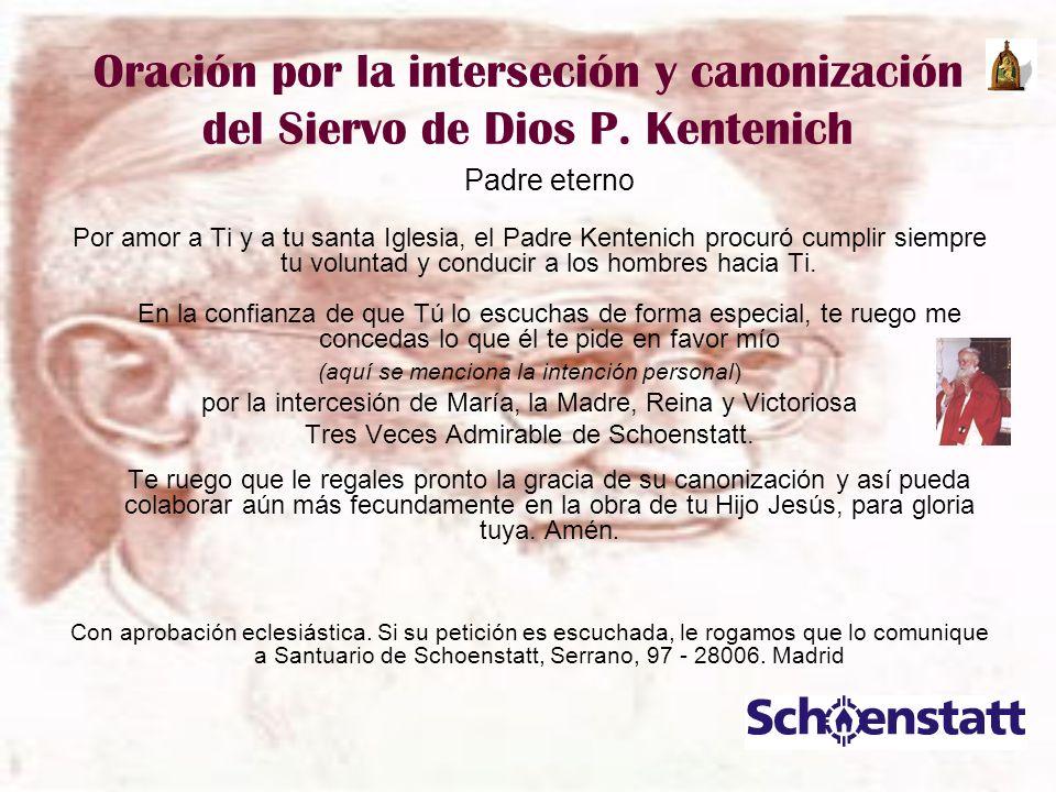 Oración por la interseción y canonización del Siervo de Dios P