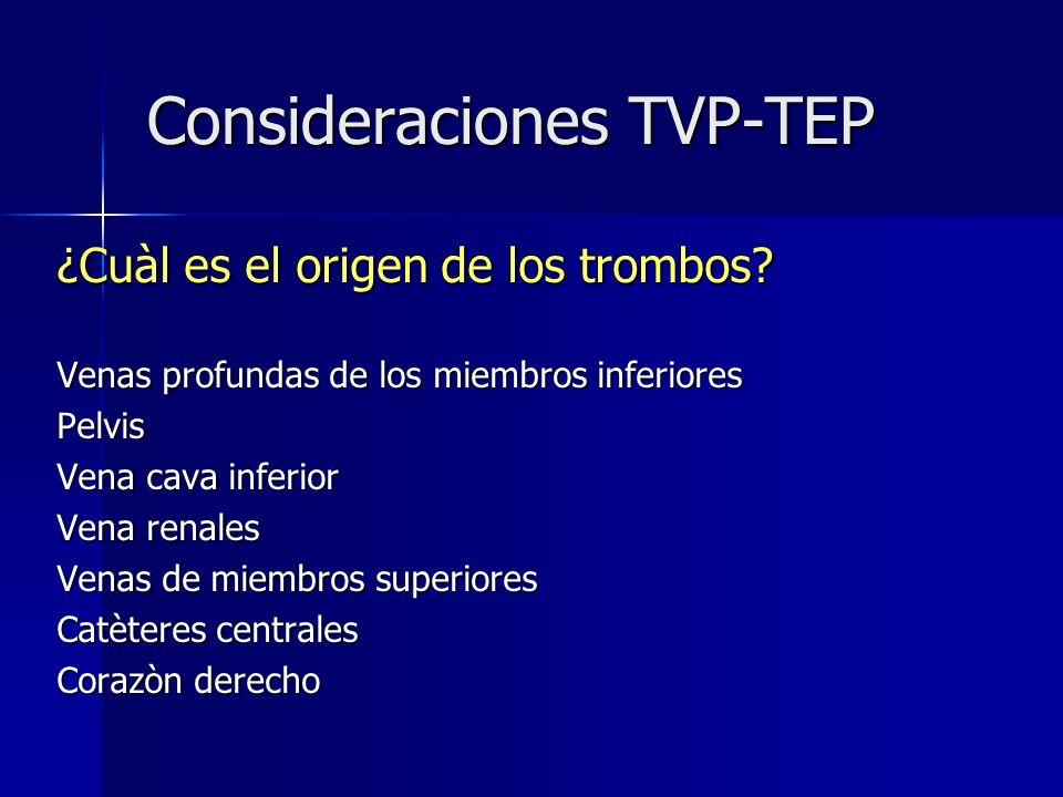 Consideraciones TVP-TEP