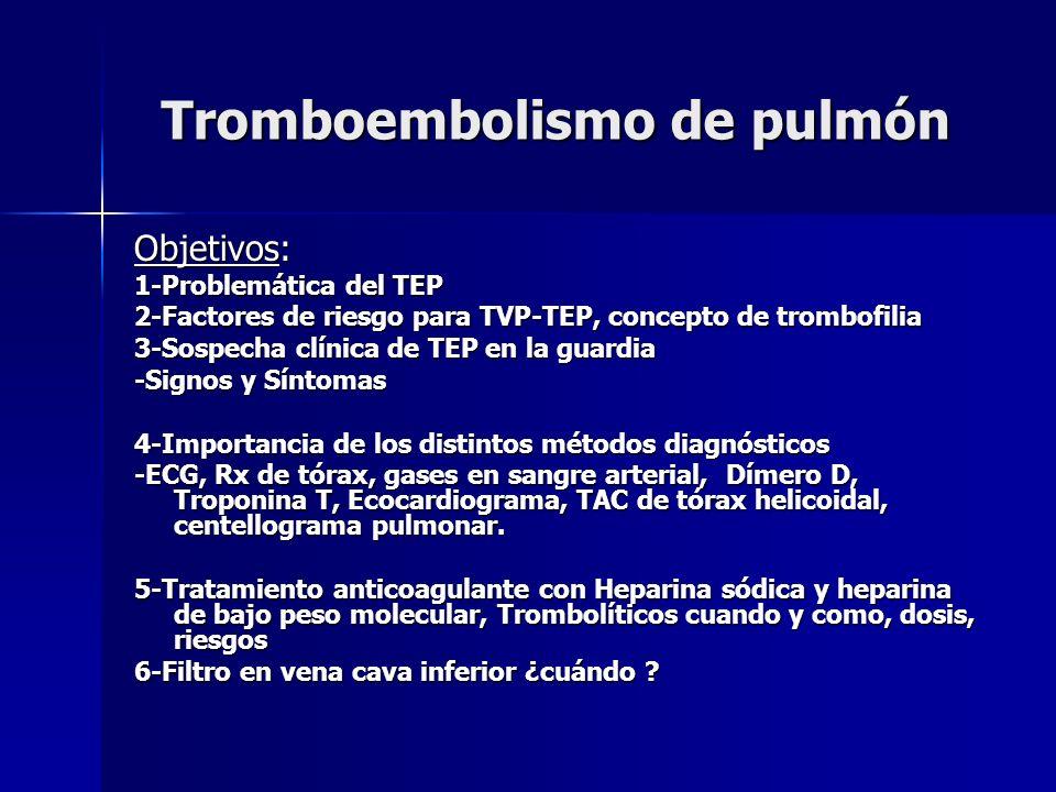 Tromboembolismo de pulmón