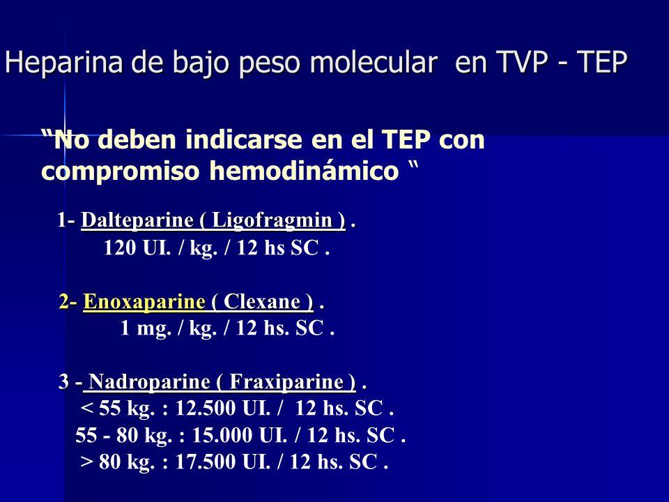 Heparina de bajo peso molecular en TVP - TEP