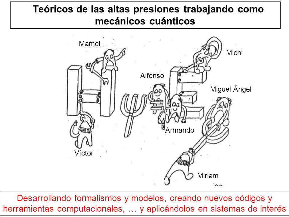 TTeóricos de las altas presiones trabajando como mecánicos cuánticos