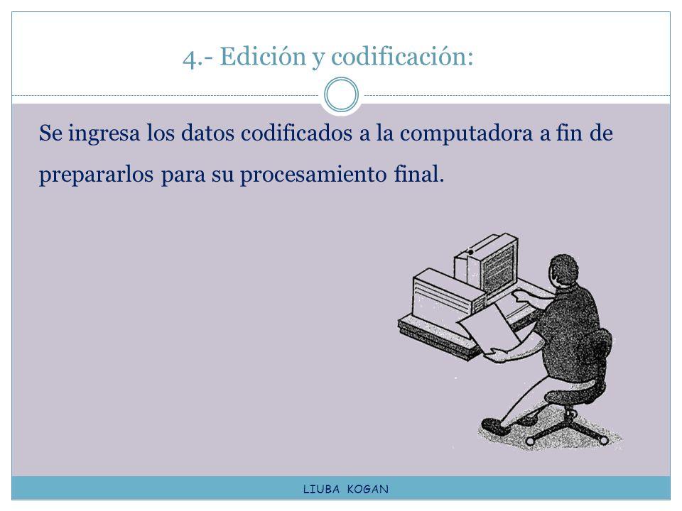 4.- Edición y codificación:
