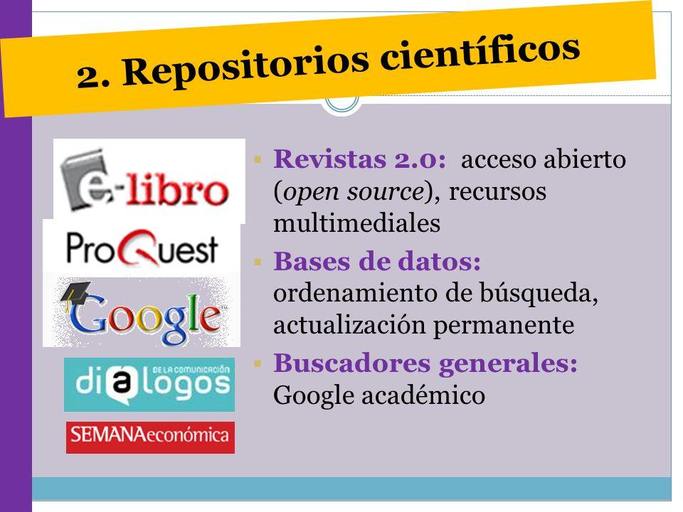 2. Repositorios científicos