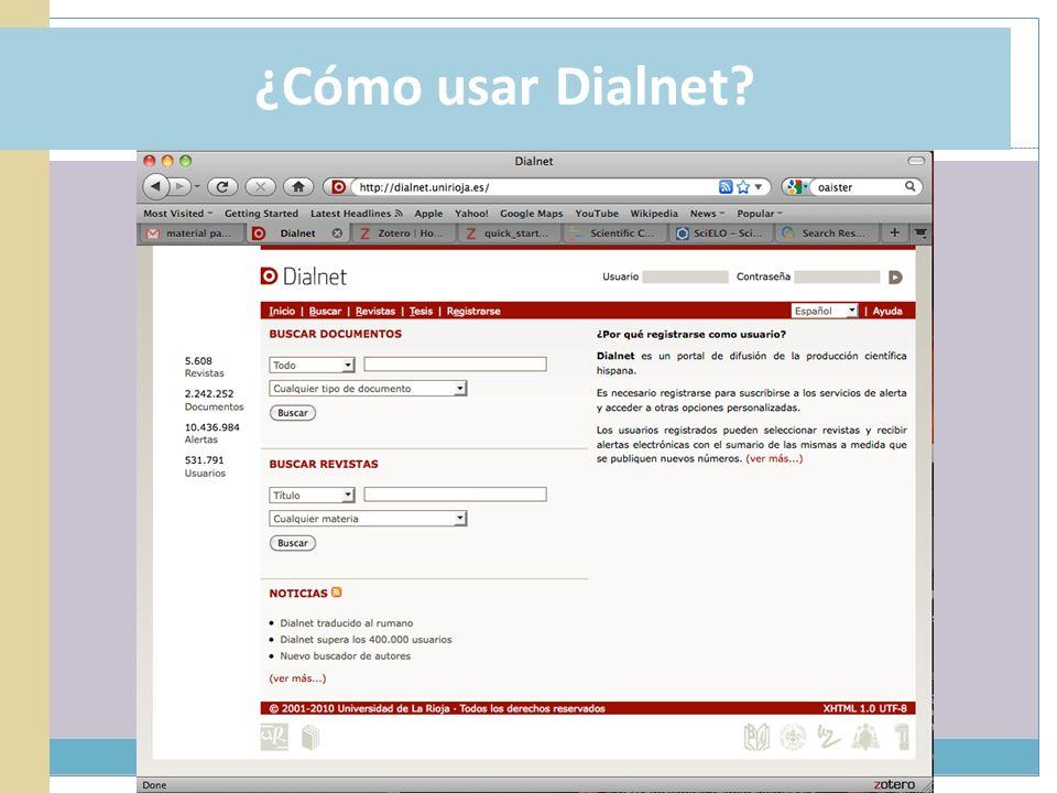 ¿Cómo usar Dialnet