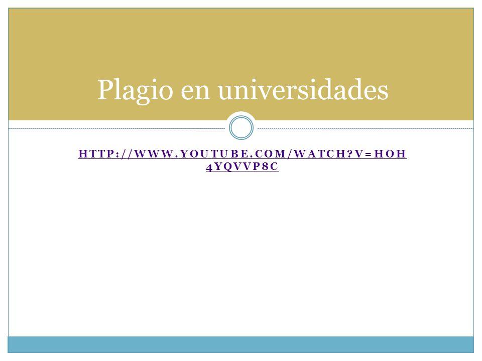 Plagio en universidades