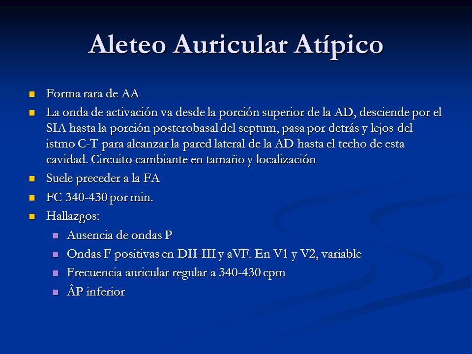Aleteo Auricular Atípico