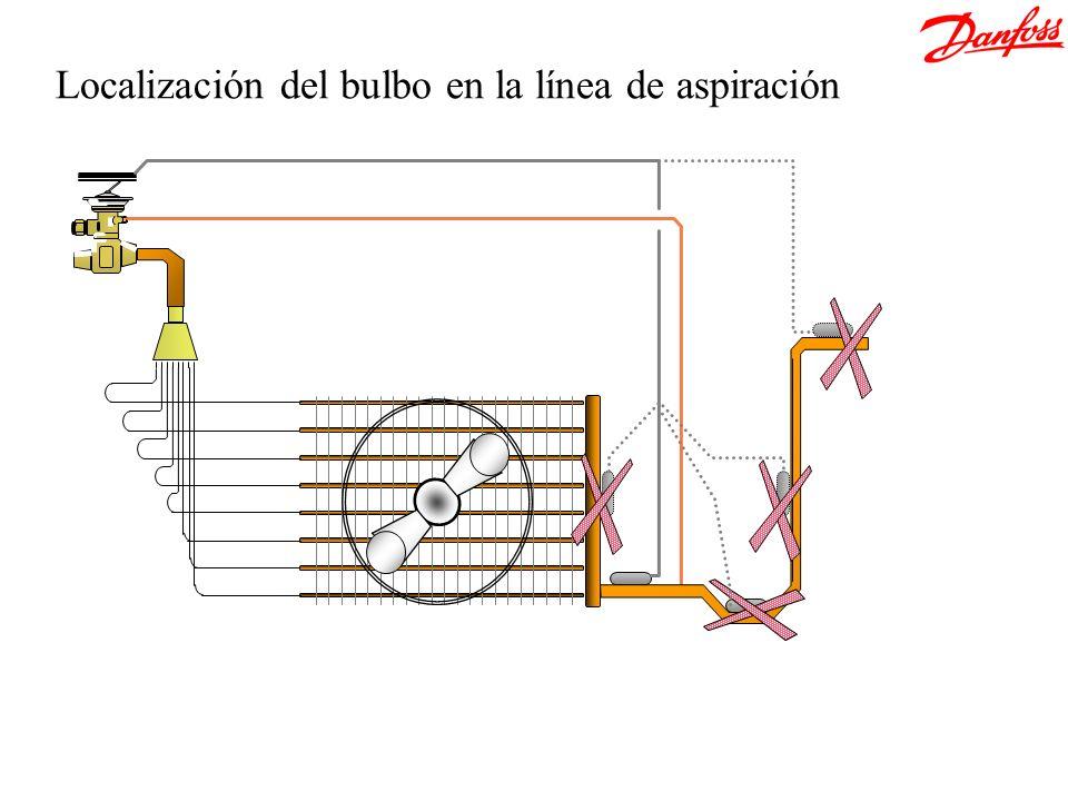 Localización del bulbo en la línea de aspiración