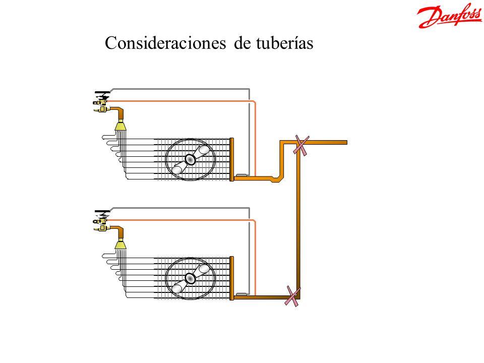 Consideraciones de tuberías