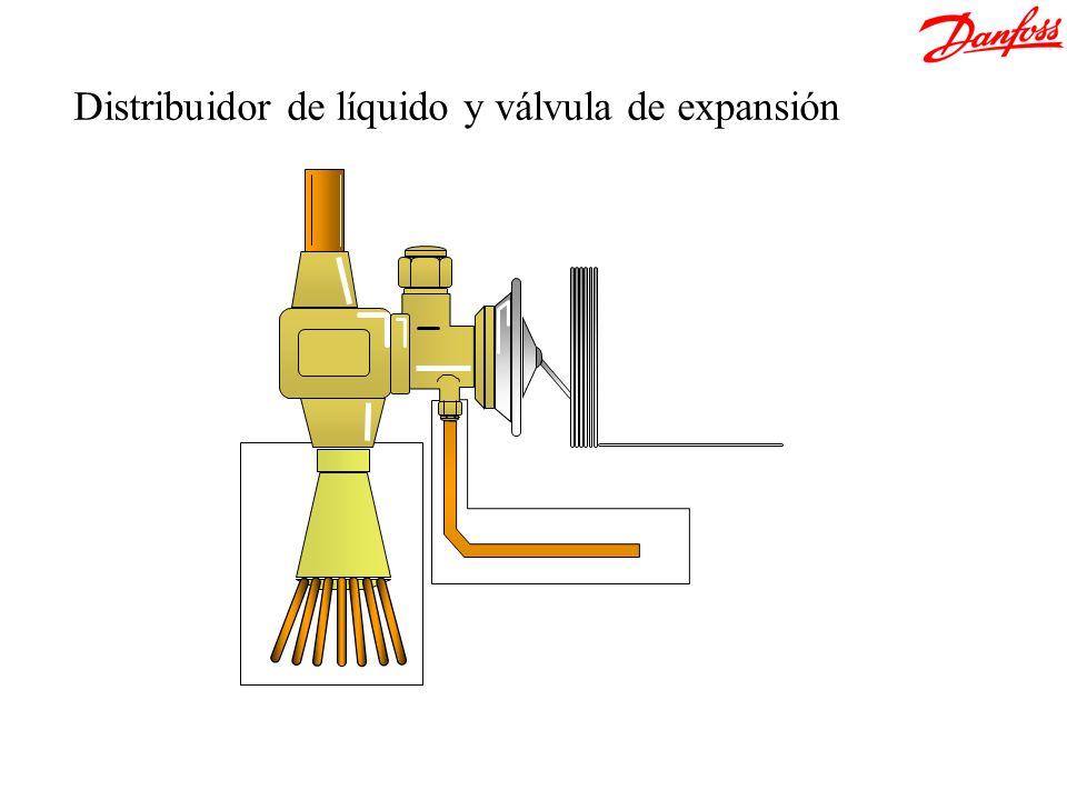 Distribuidor de líquido y válvula de expansión